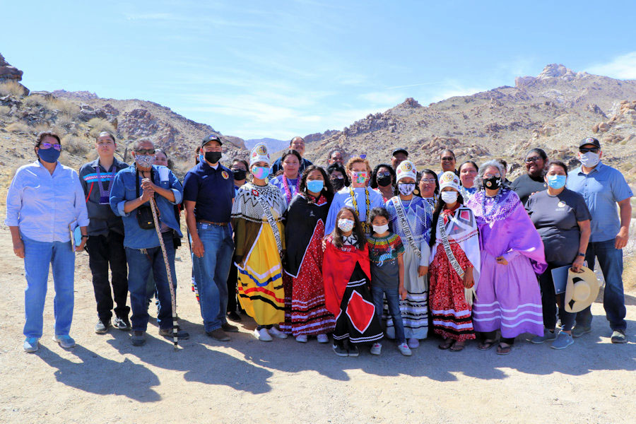 Rep. Lee with Tribal Group